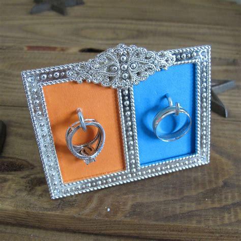 diy wedding ring holder small frame hooks create