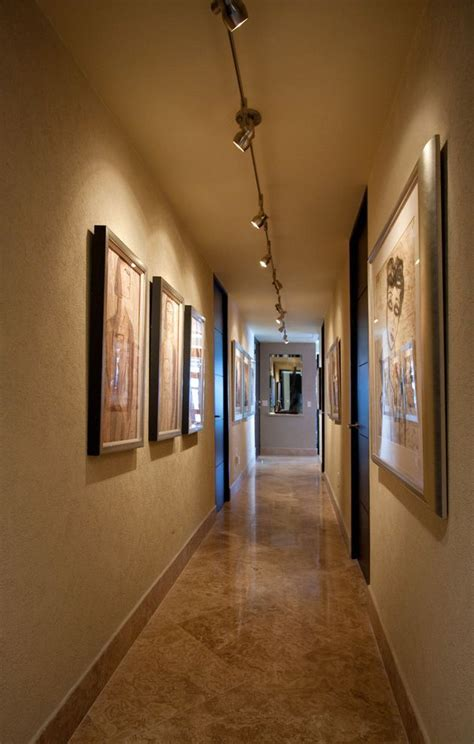 flexible led track lighting hall ideas gallery wall