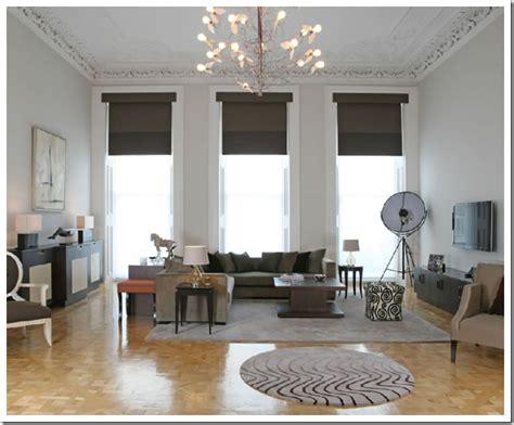 Grey Walls Living Room Interior Design