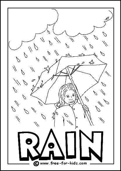 image rainy day colouring page coloring pictures kids