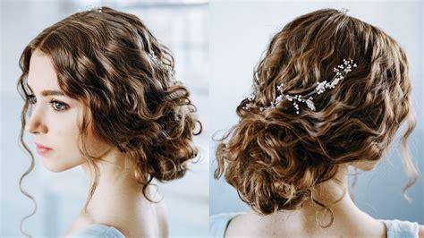 wavy curly hair tutorial elegant curly bun easy
