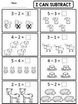 kindergarten addition subtraction worksheets dana wonderland