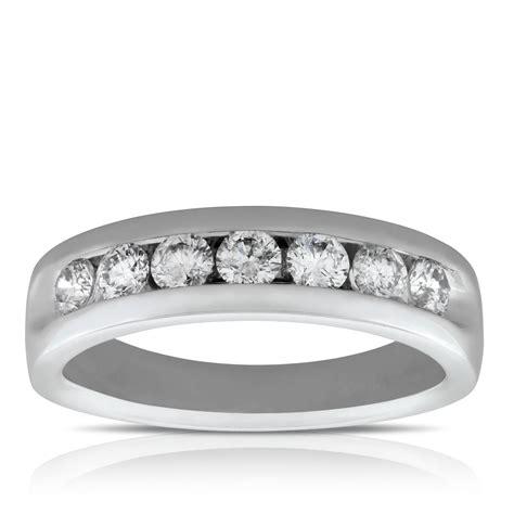 men channel set diamond wedding band 14k ben