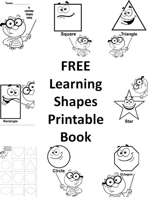 free draw shapes printable book preschool kids learning