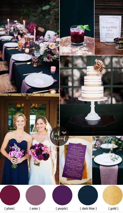 midnight blue purple wedding