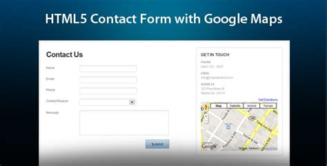 html5 ajax contact form google maps level