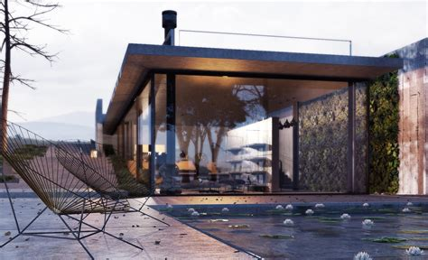 architectural visualization downstairs house blendernation
