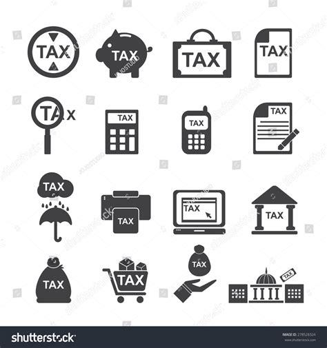 tax icon silhouette vector set 278528324 shutterstock