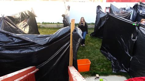 build halloween maze backyard vid 1 2015 youtube