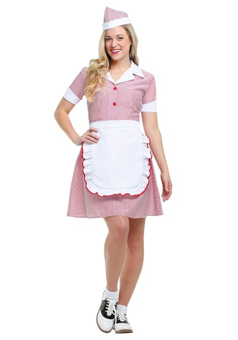 size car hop costume women 1x 2x