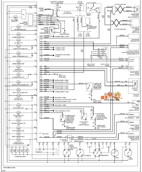 96 volvo 960 instrument panel circuit diagram automotive