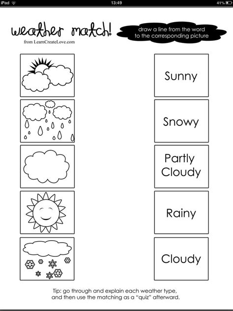 weather word picture match weather pinterest weather english