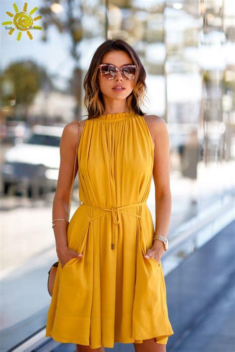 womens summer dresses 2015 summer yellow dress women