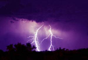 framed print beautiful purple lightning storm picture poster