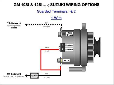gm alternator diagrams gm 10si 12si alternator wiring