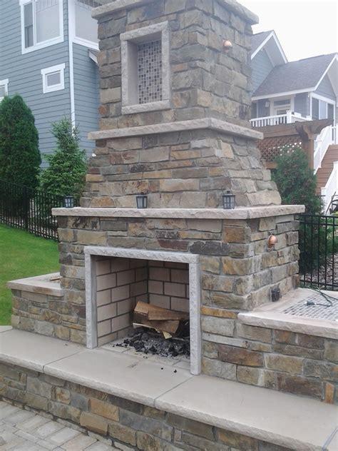 outdoor fireplace edwards natural stone limestone