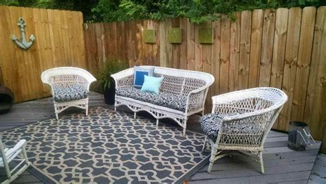 wicker furniture painting spray painted colors outdoor metal