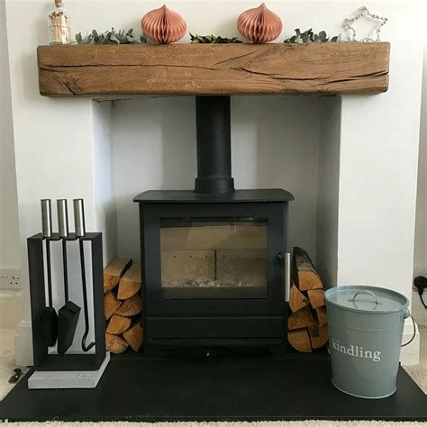 rustic oak beam fireplace surround rustic reclaimed