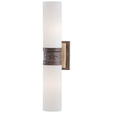 minka lavery 2 light aged patina iron wall