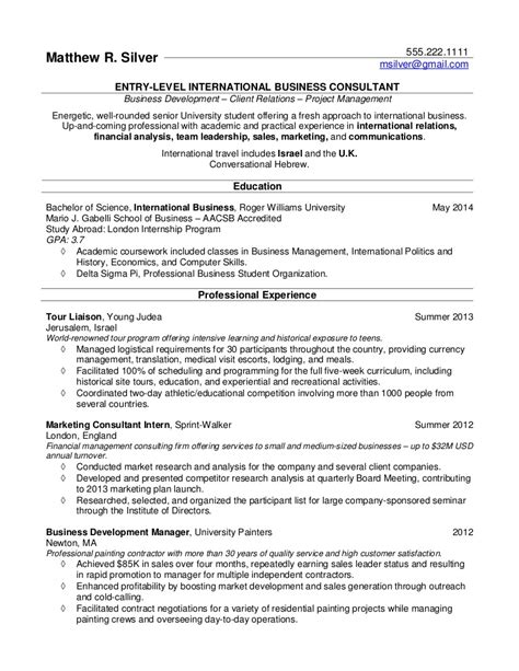 resume sles college students grads