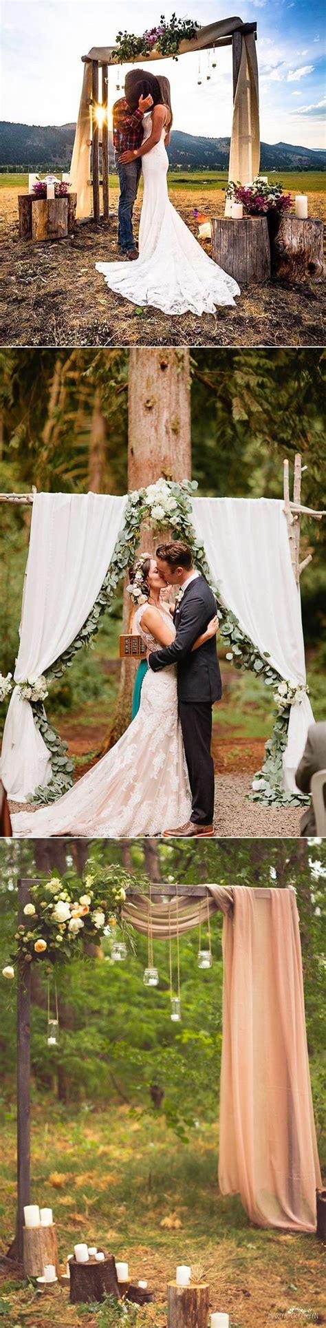 25 chic easy rustic wedding arch ideas diy