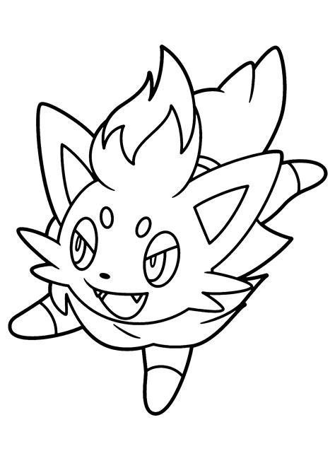 pokemon zorua pokemon coloring pages pokemon coloring