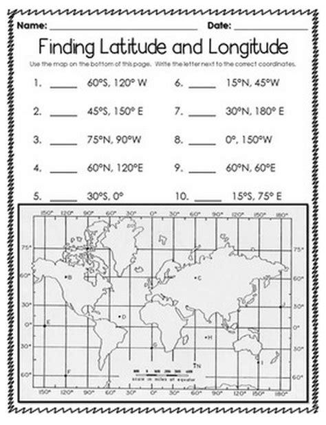 latitude longitude practice worksheets
