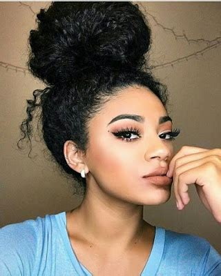 natural curly hair favorites messy bun sexy