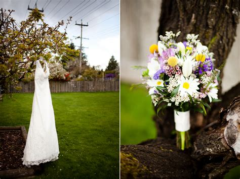 purple yellow eclectic spring wedding detail