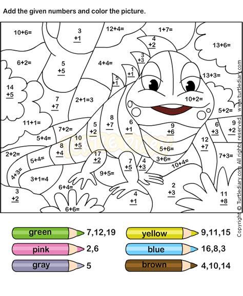 color addition worksheets free printables grades 1st grade
