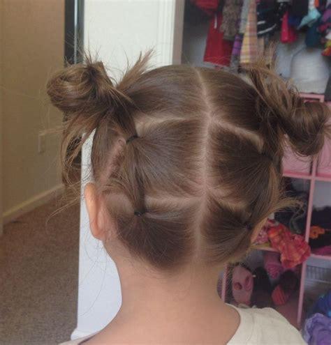 cute easy hairstyle girls short hair kid fashion