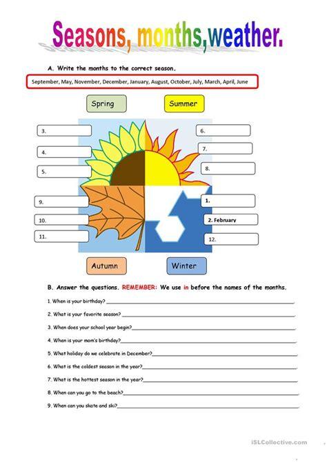Weather Worksheet Free Esl Printable