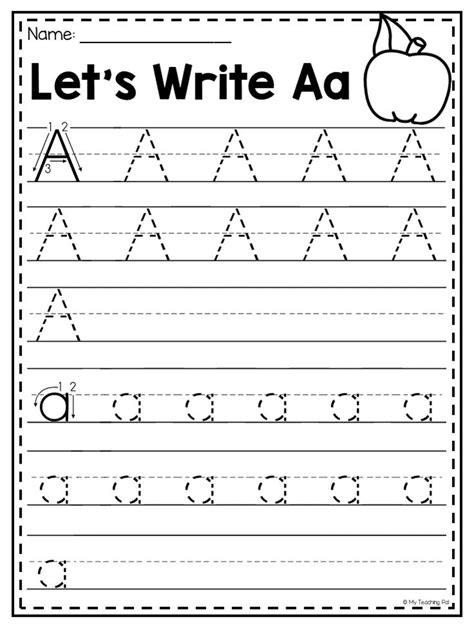 mega alphabet worksheet pack pre kindergarten school ideas