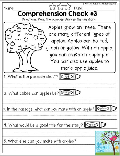 school packets reading comprehension worksheets reading comprehension kindergarten