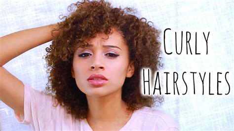 5 easy curly hairstyles school youtube