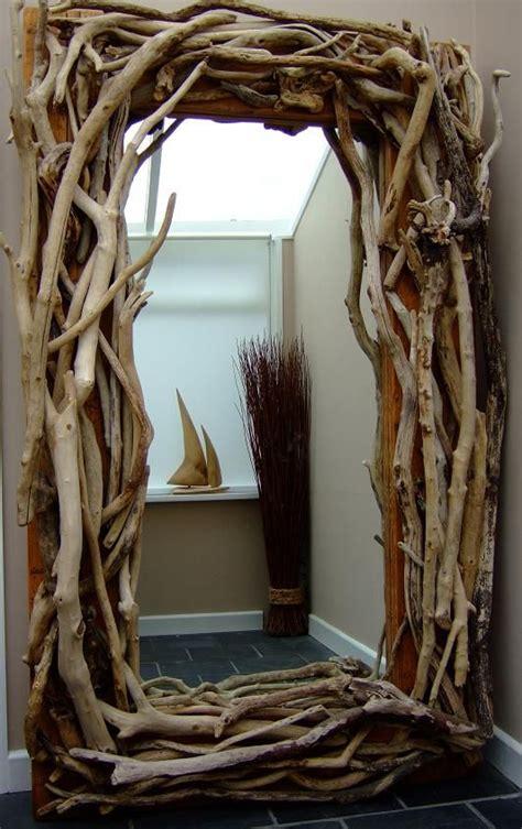 floor standing driftwood mirror project collected driftwood bedroom