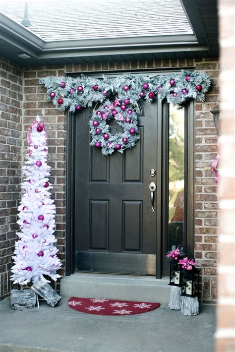holiday front door decorations mingle blog