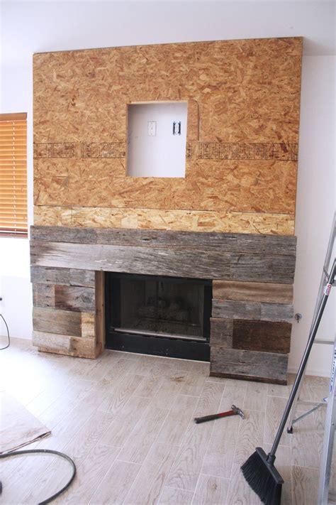 diy reclaimed wood fireplace wood fireplace surrounds