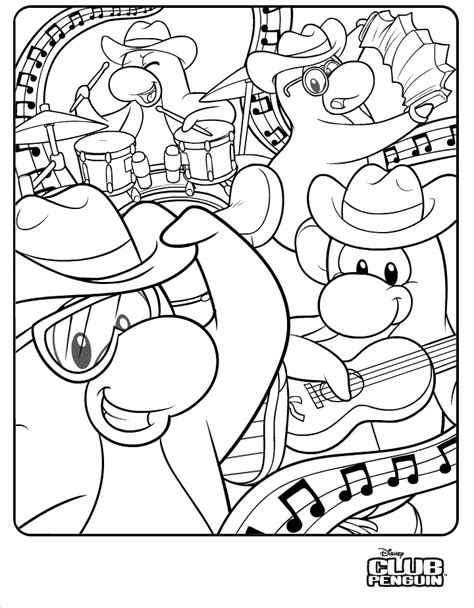 club penguin cool coloring pages http