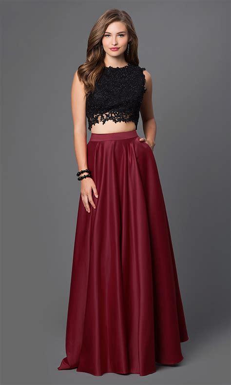 piece prom dress lace top promgirl