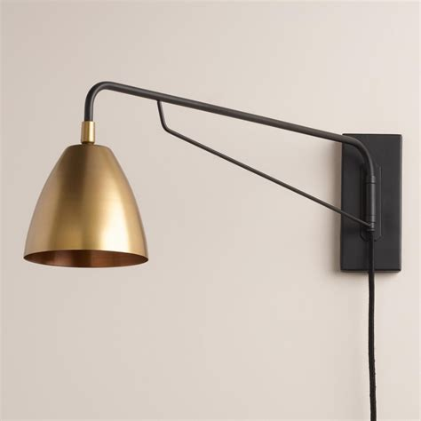 crafted pivoting arm adjustable antique brass shade inspired