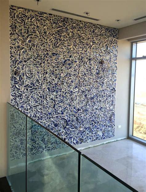 murals blue willow mosaic wall treatments unique wall