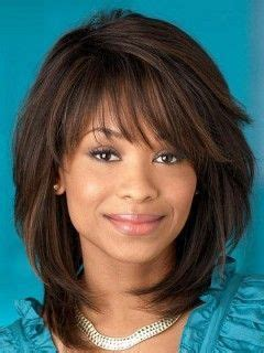 stylish straight synthetic capless african american wig medium