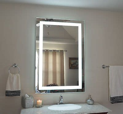 details front lighted led bathroom vanity mirror 32
