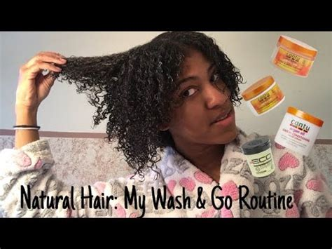 natural hair wash routine cantu ecostyler products youtube
