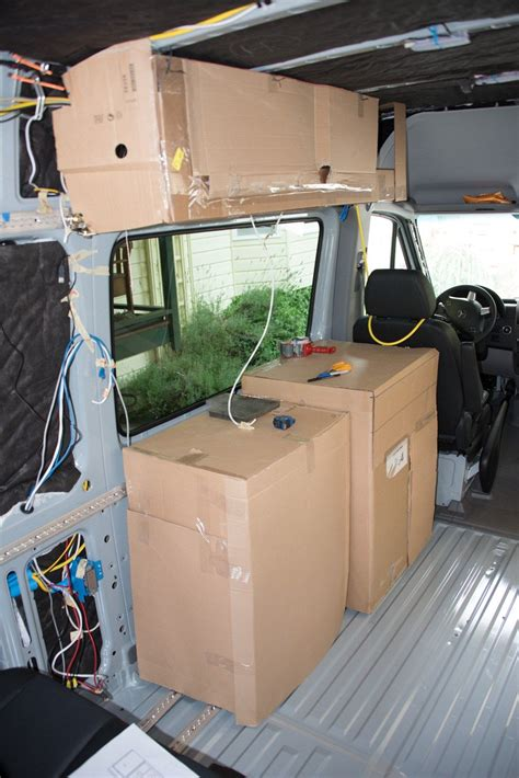 overhead cabinet fridge cabinet storage space cervan interior