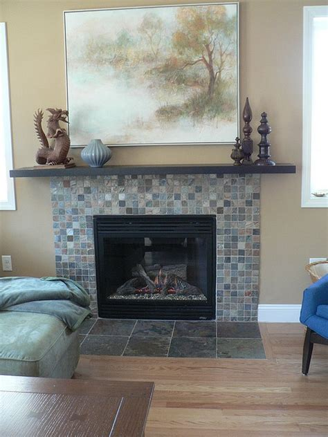 build fireplace mantel shelf brick