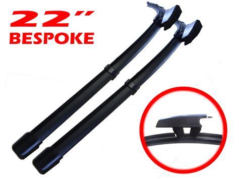 pair 22 550mm replacement aero flat wiper blades