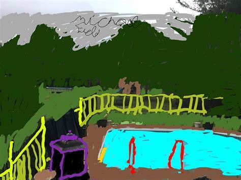 animated backyard digital art michael field