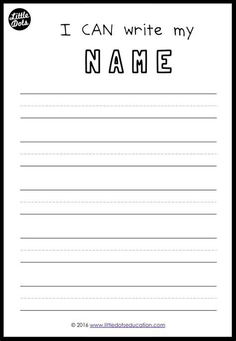 free printable practice writing names preschool pre kinder